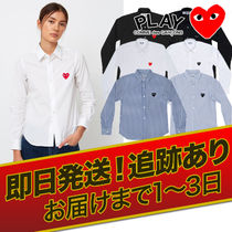 COMME des GARCONS(コムデギャルソン) ブラウス・シャツ 1-3日着【即発】 COMME des GARCONS ハートロゴ カッターシャツ