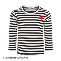 COMME des GARCONS(コムデギャルソン) キッズ用トップス 2018S/S COMME des GARCONSS ストライプ Tシャツ ウィズハート
