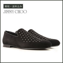 【Jimmy Choo】 SLOANE Black Suede Leather 星スタッズ