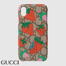 GUCCI iPhone XR case with Gucci Strawberry iPhoneXRケース☆