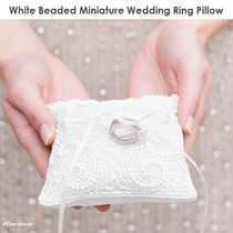 SALE!The Knot White Beaded Miniature Ring Pillow