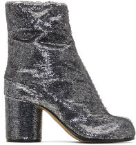 Maison Margiela◎SILVER SEQUIN TABI ANKLE BOOTS タビブーツ銀