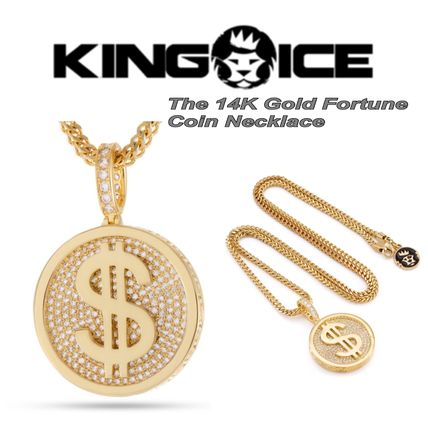 King Ice ネックレス・チョーカー *KING ICE*The 14K Gold Fortune*コインネックレス