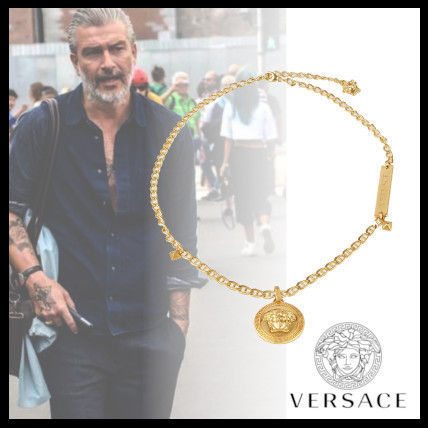 VERSACE ネックレス・チョーカー 直営買付!! VERSACE 2019AW☆MEDUSA メダリオンネックレス