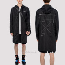 OFF-WHITE ARROWS UNFINISHED レインコート
