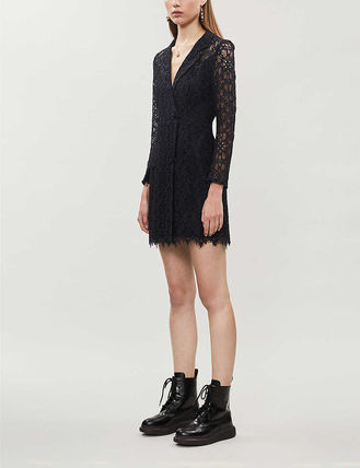 sandro ワンピース 【海外限定】sandroワンピース☆Nanie floral-embroidered lace(3)