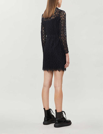 sandro ワンピース 【海外限定】sandroワンピース☆Nanie floral-embroidered lace(4)