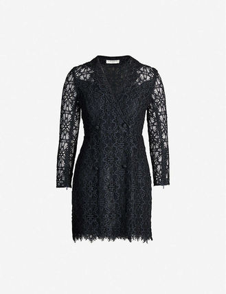 sandro ワンピース 【海外限定】sandroワンピース☆Nanie floral-embroidered lace(6)