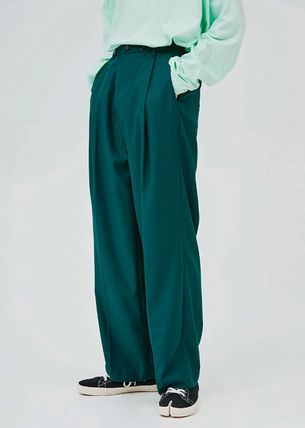 OPEN THE DOOR パンツ OPEN THE DOOR●韓国BRAND●MINI WRAP WIDE SLACKS (4色)(3SIZE)
