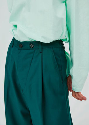 OPEN THE DOOR パンツ OPEN THE DOOR●韓国BRAND●MINI WRAP WIDE SLACKS (4色)(3SIZE)(3)