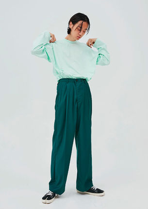 OPEN THE DOOR パンツ OPEN THE DOOR●韓国BRAND●MINI WRAP WIDE SLACKS (4色)(3SIZE)(4)
