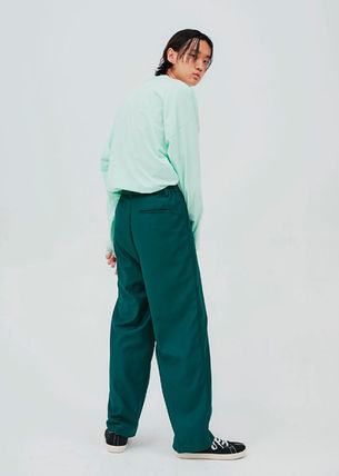 OPEN THE DOOR パンツ OPEN THE DOOR●韓国BRAND●MINI WRAP WIDE SLACKS (4色)(3SIZE)(5)