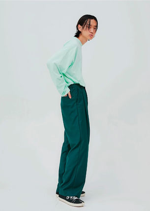 OPEN THE DOOR パンツ OPEN THE DOOR●韓国BRAND●MINI WRAP WIDE SLACKS (4色)(3SIZE)(9)