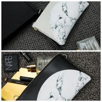 【maatila】 Half Marble Clutch and Pouch
