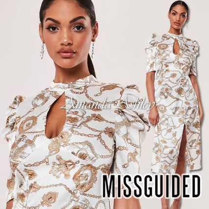 Missguided ワンピース ★MISSGUIDED-アクセサリー幾何学柄♪ティアドロップワンピ★
