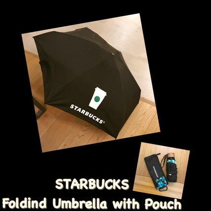 STARBUCKS / 折りたたみ傘 / Folding Umbrella with Pouch-Black
