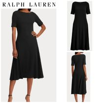 【POLO RALPH LAUREN】Cotton Fit-and-Flare Dress