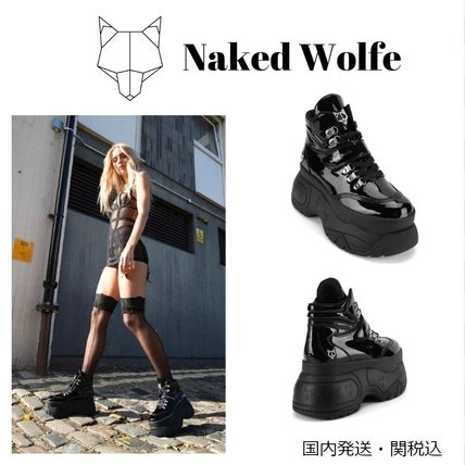 Naked Wolfe スニーカー 【Naked Wolfe】スキャンダルブラックパテントスニーカー