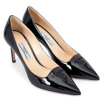 【関税負担】 PRADA LOGO PUMPS