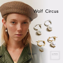 【Wolf Circus】ハンドメイド〇Small Pearl Hoops〇2WAY送料込み