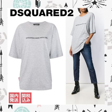 D SQUARED2 Tシャツ・カットソー 〔国内発送〕DSQUARED2 Made With Love Tシャツ ☆人気グレー☆