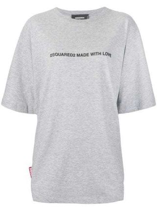 D SQUARED2 Tシャツ・カットソー 〔国内発送〕DSQUARED2 Made With Love Tシャツ ☆人気グレー☆(2)