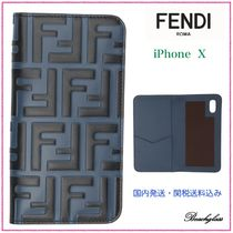 FENDI ☆ ブルー & ブラック Forever Fendi iPhone X ケース