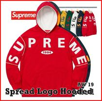Supreme Spread Logo Hooded Sweatshirt AW 19 FW 19 WEEK 1