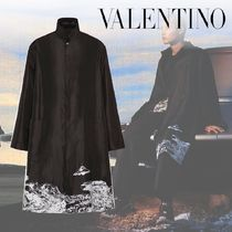 VALENTINO×UNDERCOVER*TIME TRAVELLER プリント ピーコート