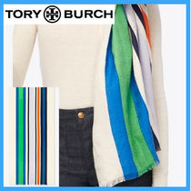 TORY BURCHトリーバーチ★STRIPED TRAVELER OBLONG スカーフ