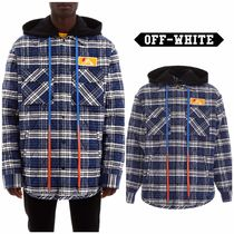 【OFF WHITE】Check Padded Jacket