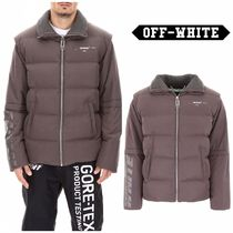 【OFF WHITE】Puffer Jacket With Rhinestones