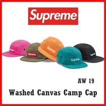 Supreme Washed Canvas Camp Cap AW 19 FW 19 WEEK 1