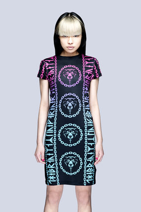 LONG CLOTHING ワンピース 国内発送 LONG CLOTHING   MISHKA 2.0 DEATH ADDER CHAIN DRESS(2)