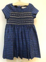 19AW【Bonpoint】Duchesse スモッキングドレス 6~8A (#374D)