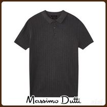 Massimo Dutti(マッシモドゥッティ) ポロシャツ MassimoDutti♪100% COTTON CABLE-KNIT POLO SWEATER