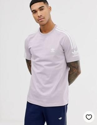 adidas Originals t-shirt with lock up logo in lilac