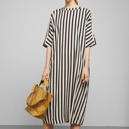 """WEEKDAY"" Scope Dress White/Stripe"