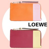 non-no掲載 使い勝手よし LOEWE Color Block Coin Card Holder