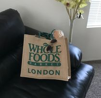 WHOLE FOODS MARKET(ホールフーズマーケット) エコバッグ すぐお届け☆ギフトに是非 ロンドン限定エコバック WHOLE FOODS