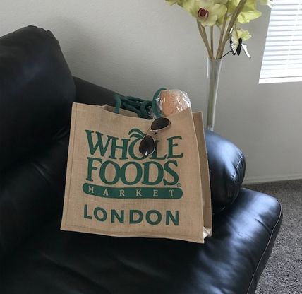 WHOLE FOODS MARKET ライフスタイルその他 すぐお届け☆ギフトに是非 ロンドン限定エコバック WHOLE FOODS