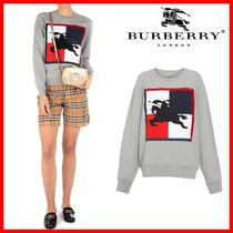 関税負担☆人気【BURBERRY] ☆CHECKER EKD COTTON SWEATSHIRT☆
