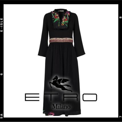ETRO ワンピース 【ETRO】Viscose and silk long dress(2)