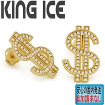 LA発ストリート☆King Ice☆人気のHIP HOPピアス Iced Out Money