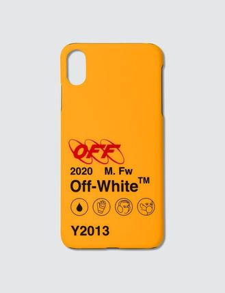 Off-White スマホケース・テックアクセサリー 送関込★OFF-WHITE★Industrial Y013 ロゴ iPhoneカバー(2)