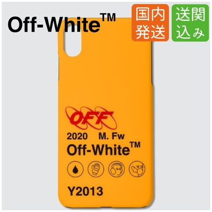 Off-White スマホケース・テックアクセサリー 送関込★OFF-WHITE★Industrial Y013 ロゴ iPhoneカバー