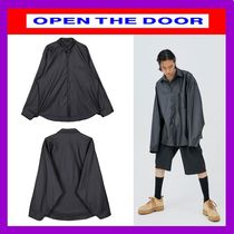 [OPEN THE DOOR]  daddy-fit leather shirts - UNISEX /追跡付