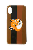即配★MAISON KITSUNE IPHONE X/Xs CASE STRIPES FOX HEAD