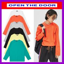 [OPEN THE DOOR]  wearable cover stitch T(6色) -UNISEX/追跡付