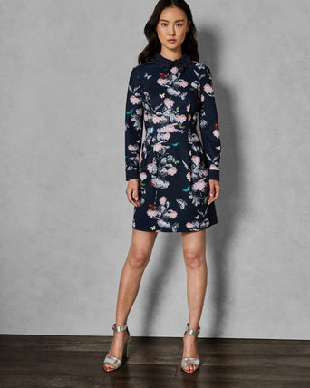 TED BAKER ワンピース ◆日本完売【TED BAKER】RAYLA Narrnia collar dress(6)